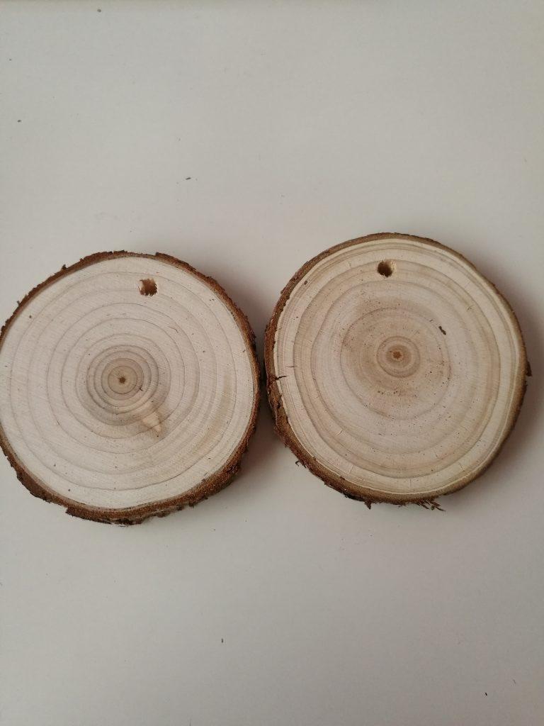 discos de madera para hacer llaveros de madera