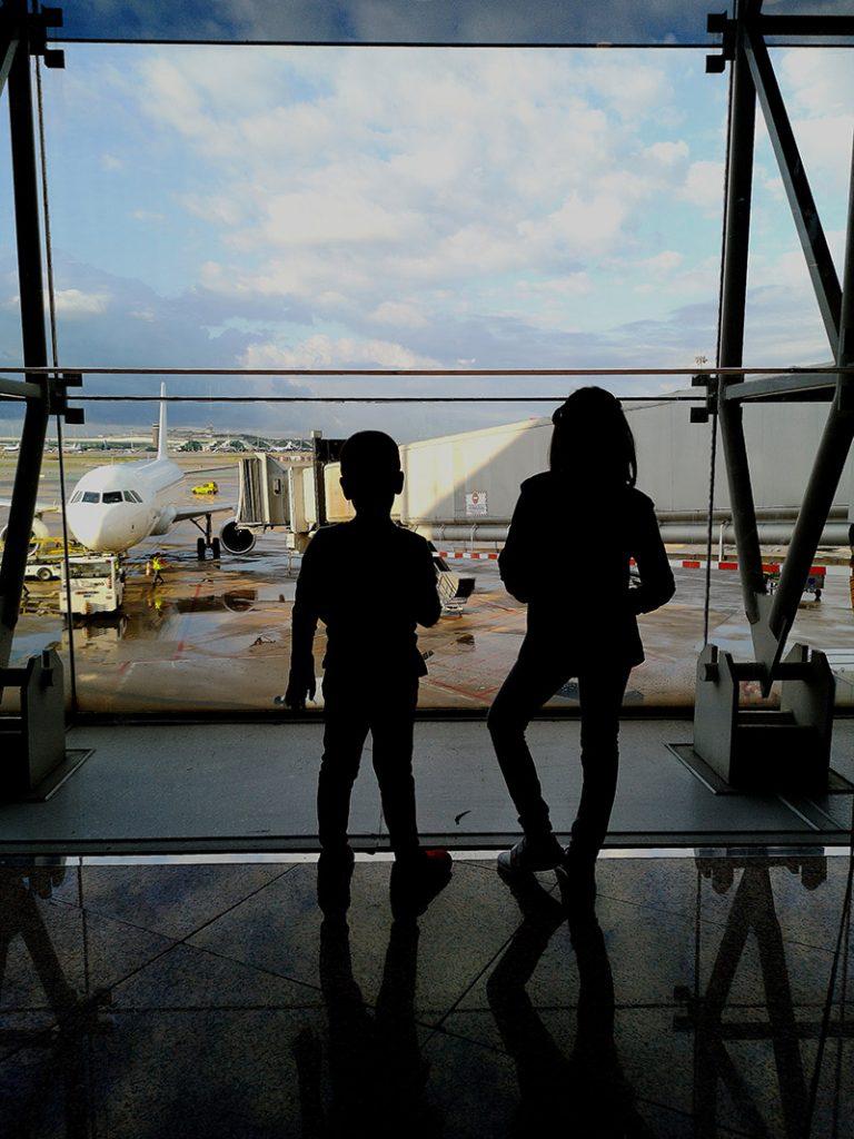 esperando el vuelo